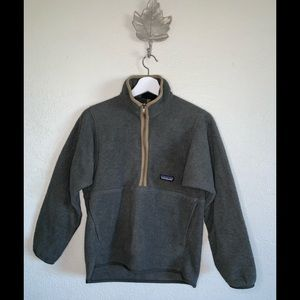 Patagonia synchilla gray half zip XS retro